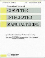 International journal of computer integrated manufacturing , tập 24, số 5, 2011