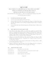 quy chế hoạt động của hội đồng quản trị và tổng giám đốc