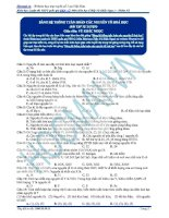 Bảng hệ thống tuần hoàn các nguyên tố hoá học