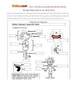 Bài tập Tiếng Anh trẻ em: Body Parts