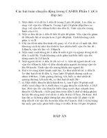 Các bài toán chuyển động trong CASIO ( Phần 1 )( Có đáp án)