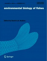 Environmental biology of fishes, tập 95, số 2, 2012