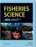 Fisheries science  JSFS , tập 76, số 6, 2010 11