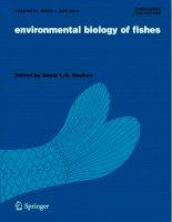 Environmental biology of fishes, tập 91, số 1, 2011