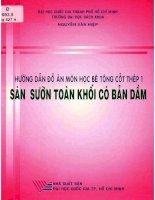 Hướng dẫn đồ án môn học bê tông cốt thép 1  sàn sườn toàn khối có bản dầm theo TCXDVN 356  2005  nguyễn văn hiệ pdf