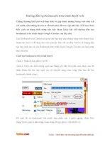 Cách đánh dấu trang Web yêu thích trên Google Chrome
