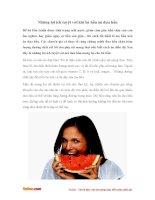 Những lợi ích tuyệt vời khi bà bầu ăn dưa hấu