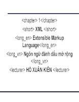 Giáo án dạy học môn XML