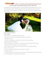 Luyện nghe tiếng Anh trình độ cơ bản: Kết hôn