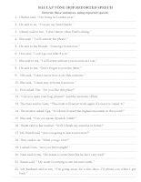bài tập tổng hợp câu gián tiếp