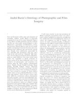 Jonathan friday    andre bazins ontology of photographic and film imagery the journal of aesthetics and art criticism 63 4 fall 2005