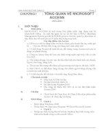 Hướng dẫn sử dụng Access từ cơ bản đến nâng cao