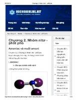 Chương 2  nhóm nitơ   phốt pho