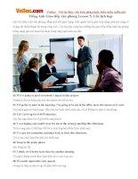 Tiếng Anh Giao tiếp văn phòng Lesson 5: Lên lịch họp