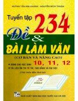 Tuyển tập 234 đề  bài làm văn cơ bản và nâng cao  nguyễn bích thuận