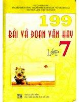 199 bài và đoạn văn hay lớp 7 lê anh xuân