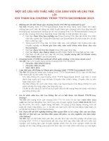 MỘT SỐ CÂU HỎI THẮC MẮC CỦA SINH VIÊN VÀ CÂU TRẢ LỜI KHI THAM GIA CHƯƠNG TRÌNH TTVTN SACOMBANK 2015