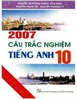 2007 câu trắc nghiệm tiếng anh 10  nguyễn thị tường phước