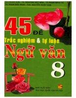 45 đề trắc nghiệm và tự luận ngữ văn 8 tạ thanh sơn