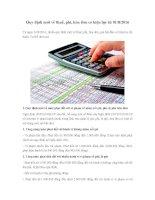 Quy định mới về thuế, phí, hóa đơn có hiệu lực từ 01/8/2016
