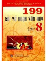 199 bài và đoạn văn hay lớp 8 lê anh xuân