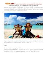 Từ vựng luyện thi nói IELTS theo chủ đề: Holiday
