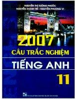 2007 câu trắc nghiệm tiếng anh 11   nguyễn thị tường phước