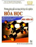 Phương pháp giải các dạng bài tập trắc nghiệm hóa học hóa hữu cơ nguyễn thanh khuyến