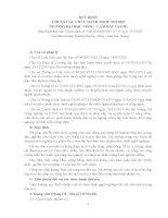 QUY ĐỊNH CHUẨN CÁC CHỨC DANH NGHỀ NGHIỆP TRƯỜNG ĐẠI HỌC NÔNG - LÂM BẮC GIANG