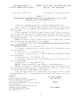 THÔNG TƯ 752009 về Ban hành Quy chuẩn kỹ thuật quốc gia về điều kiện an toàn vệ sinh  thực phẩm trong sản xuất Nông sản