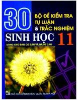 30 bộ đề kiểm tra tự luận  trắc nghiệm sinh học 11 huỳnh quốc thành