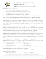 ĐỀ KIỂM TRA HOÁ HỮU CƠ ÔN THI THPT QUỐC GIA (Phần 1 đề thi: Phần 2 đáp án )