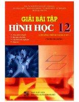 Giải bài tập hình học 12 chương trình nâng cao nguyễn văn lộc