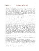 Nhiệt và truyền nhiệt nền tảng và ứng dụng  chương 11 nguyễn trọng quỳnh dịch