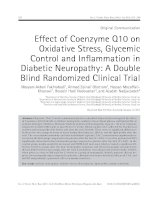 Effect of coenzyme q10 on oxidative stress, glycemic control and inflammation in diabetic neuropathy a double blind randomized clinical trial pdf