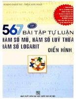 567 bài tập tự luận hàm số mũ hàm số lũy thừa hàm số logarit điển hình hoàng danh tài