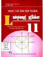 Học và ôn tập toán lượng giác 11 lê bích ngọc