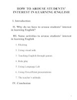 SKKN HOW TO AROUSE STUDENTS' INTEREST IN LEARNING ENGLISH
