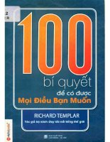 100 bí quyết để có được mọi điều bạn muốn  richard templar; hoàng ngọc bích dịch pdf