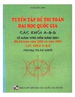 tuyển tập đề thi toán đại học quốc gia khối a b d từ năm 1995 2001 vũ quốc anh