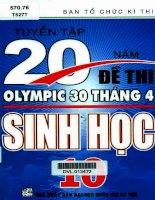 Tuyển tập 20 năm đề thi olympic 30 tháng 4 sinh học 10