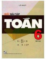 Giải bài tập toán 6 tập 2 lê nhứt