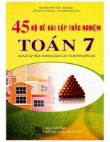 45 bộ đề bài tập trắc nghiệm toán 7 nguyễn đức tấn