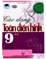 các dạng toán điển hình 9 tập 2 lê đức