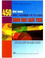 450 bài toán trắc nghiệm và tự luận hình học giải tích trần minh quang