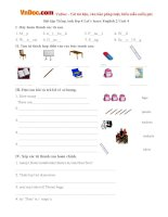 Bài tập Tiếng Anh lớp 4 Let's learn English 2 Unit 4