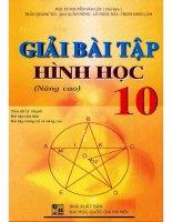 Giải bài tập hình học 10 nâng cao nguyễn văn lộc
