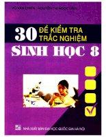 30 đề kiểm tra trắc nghiệm sinh học 8 võ văn chiến