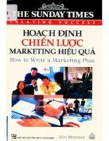 Hoạch định chiến lược marketing hiệu quả  john westwood; việt hà, lan nguyên dịch pdf