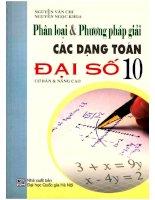 Phân loại  phương pháp giải các dạng toán đại số 10 nguyễn văn chi